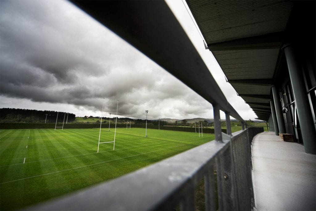 A view of the main Rugby field from the balcony of the Sport and Rugby Institute
