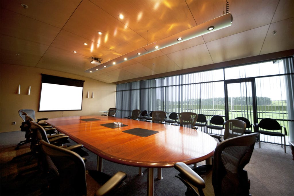 The Massey Sport & Rugby Institute features a Board Room for coach deliberation and advanced player analysis