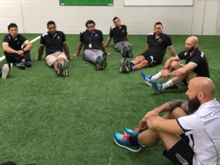 Sevens Coaches Course discussion
