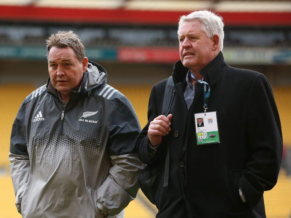 All Black Coach Steve Hansen and NZ Rugby CEO Steve Tew
