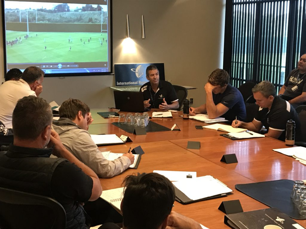 IRANZ Coach participants analyse game with former world cup winning All Black Coach Wayne Smith